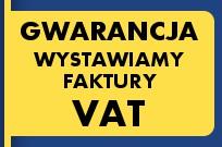 Gwarancja! Wystawiamy faktury VAT