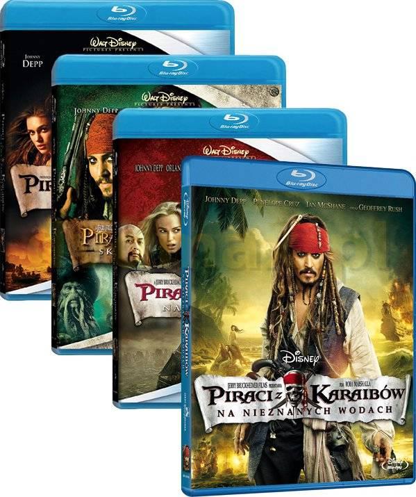 Piraci z Karaibów Quadrilogy: Klątwa czarnej perły / Skrzynia umarlaka / Na krańcu świata / Na nieznanych wodach Pakiet [4Blu-Ray]